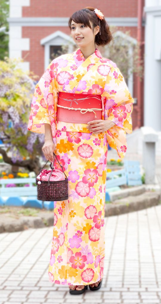 yukata 浴衣 造り帯3点set