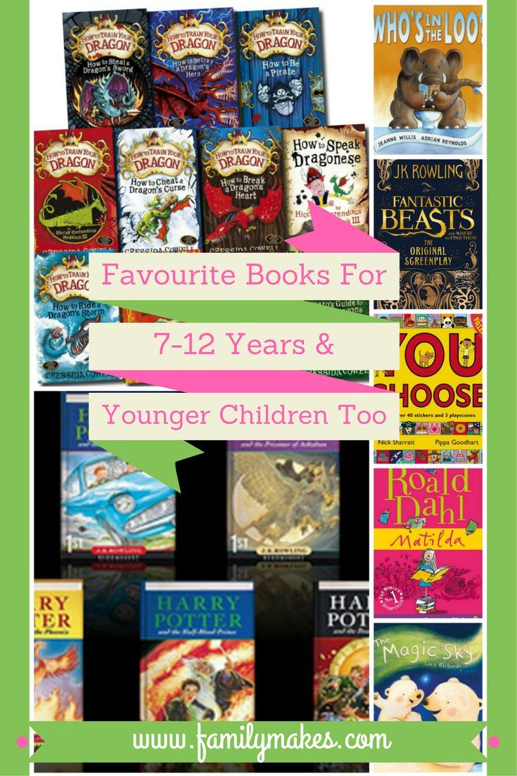 See our favourite books for 7-12 year olds, as chosen by my boys, plus some all-time favourites for younger children too. Become a bookworm at Family Makes!
