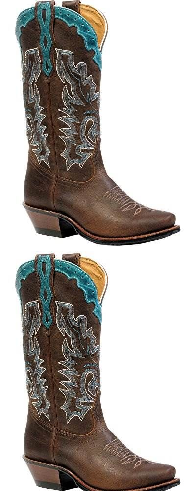 Boulet Western Boots Womens Cutter Rider 10 1C Selvaggio Wood 4361 #SHOES