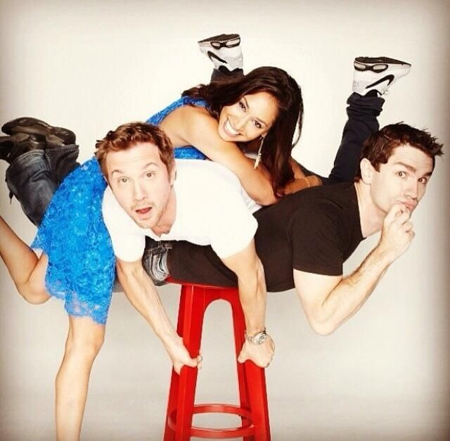 What a crazy bunch - Being Human SyFy's Meaghan Rath, Sam Huntington, Sam Witwer!