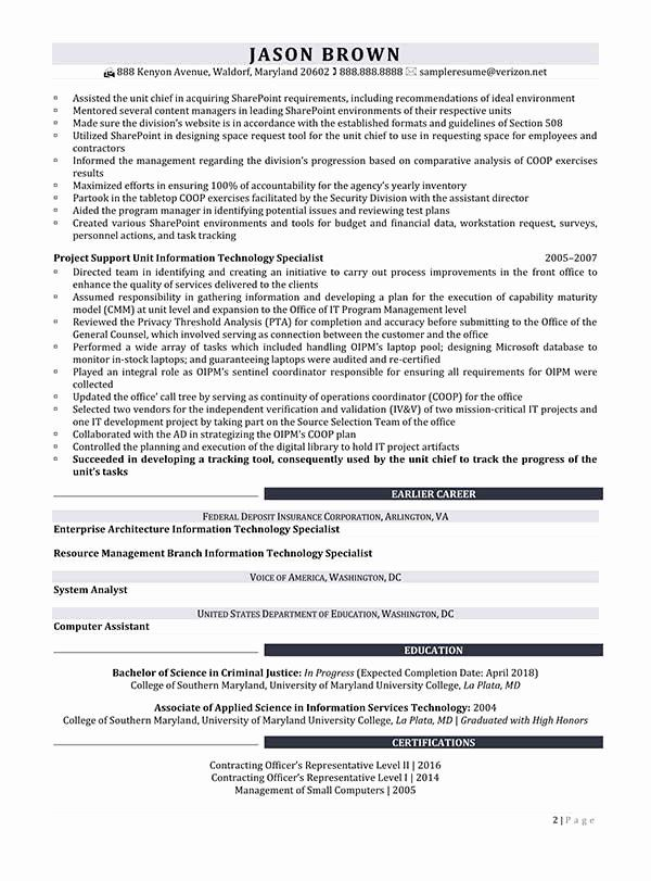 Information Technology Resume Template Inspirational Director Information Technology Resume Resume Sample Resume Examples Sample Resume Resume