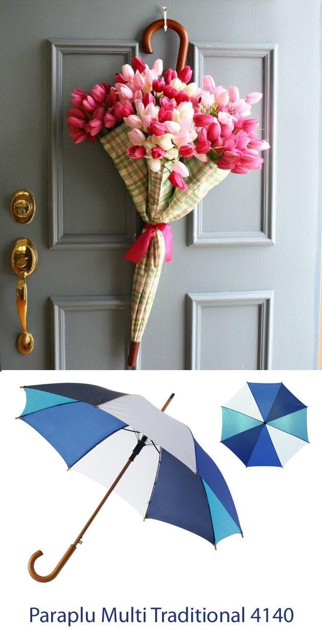 Leuke #decoratie voor de #lente en #zomer; een grote bos bloemen in een #paraplu! #origineel #geschenk #outofthebox