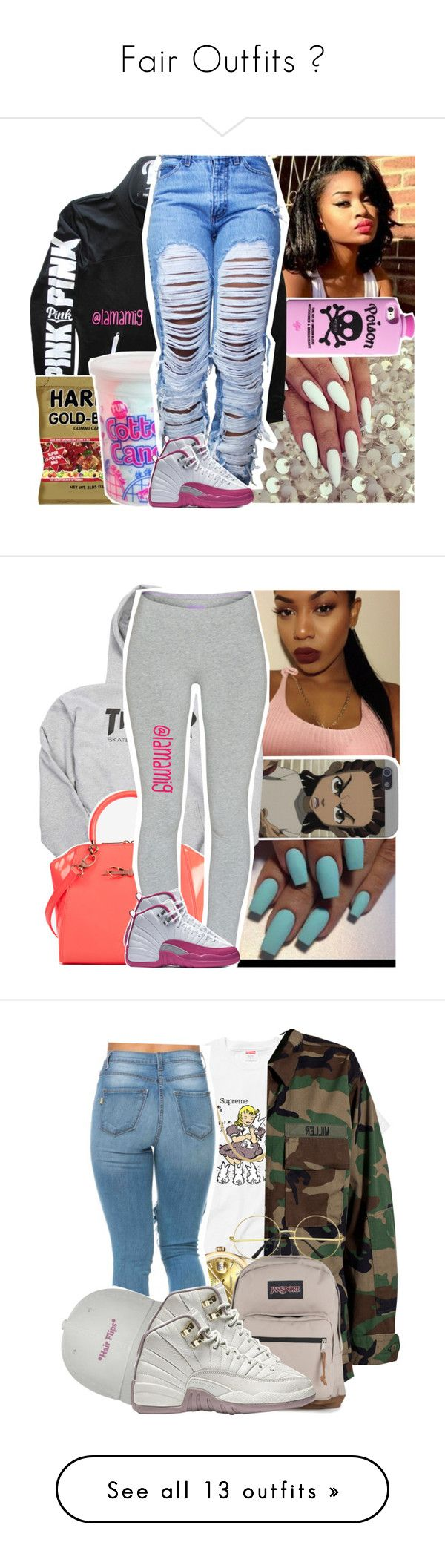"""""""Fair Outfits """" by shamyadanyel ❤ liked on Polyvore featuring Valfré, Victoria's Secret, Cotton Candy, NIKE, Ted Baker, TNA, Modström, Rolex, JanSport and Puma"""
