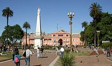Růžový dům (Casa Rosada), residence argentinského prezidenta.