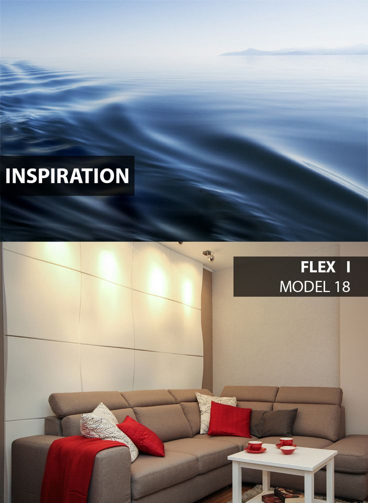 Flex - model 18 - Inspiration.  Click at the photo to get more information or to visit our website. #LoftDesignSystem #loftsystem #Decorativepanels #Inspiration #Interior #Design #wallpanels #3Ddecorativepanels #3dpanels #3dwallpanels #house #home #homedesign #Decorations #homedecorations #meringue #bedroom #salon #livingroom #Flex #water