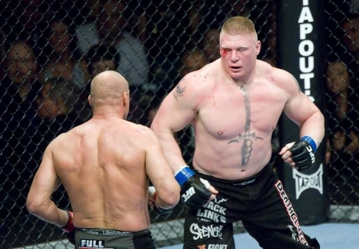 The gallery for --> Brock Lesnar Vs Randy Couture