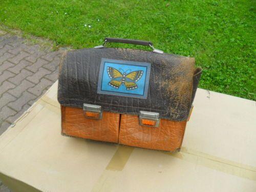 Alte DDR Schultasche-Ranzen-Leder | eBay