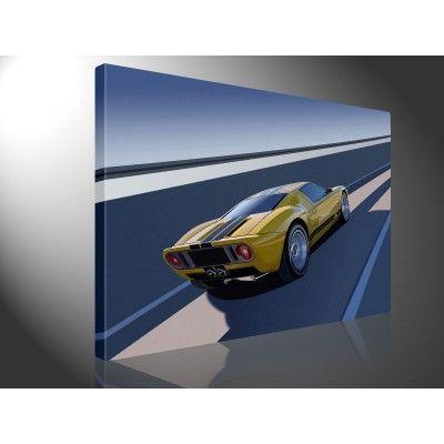 Canvas Ford GT 40. Nu te verkrijgen via www.werelddoek.nl