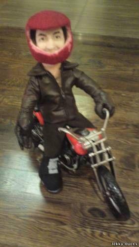 Портретная кукла Байкер в шлеме