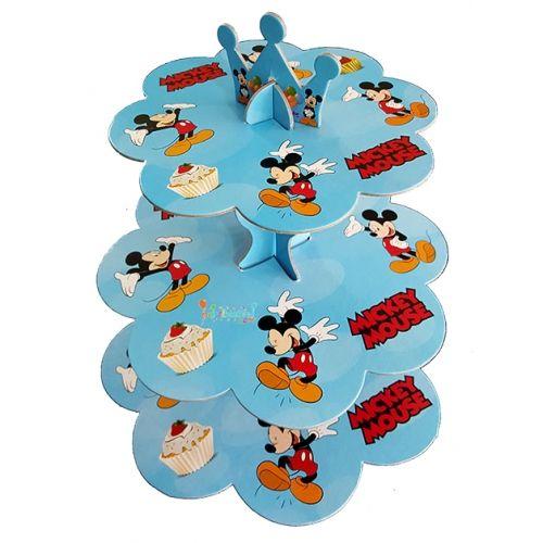 Mickey Mouse Kek Standı | 3 Katlı Karton Kek Standı | Mickey Mouse Doğum Günü Süsleri