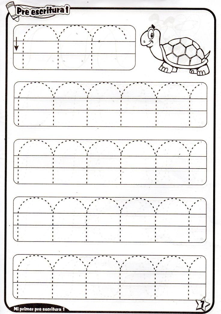 Fichas de preescritura imprimibles para niños de 4 años. Ejercicios de prescritura para niños y niñas de preescolar.