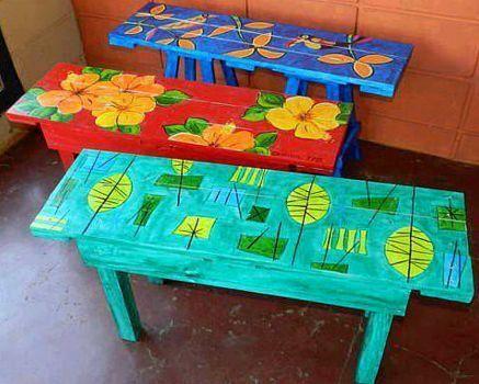 1000 ideas sobre mesas pintadas en pinterest mesa de - Disenos muebles pintados ...