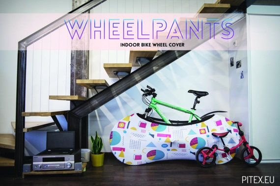 Textile bike cover Printed foldable cover Wheelpants by pitex