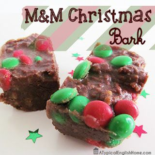 Super easy (and delicious!) M&M Christmas tray bake recipe.