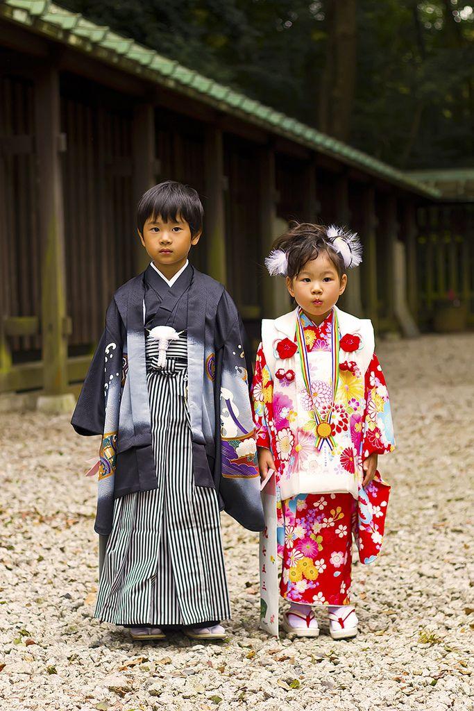 Kimono / little boy and girl