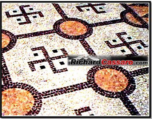 Antico mosaico all'Iliou Melathron (Palazzo del Sole) ad Atene