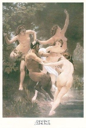 William Adolphe Bouguereau Nymphs and Satyr