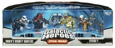 Amazon.com: Star Wars Galactic Heros Episode V The Empire Strikes Back: Vaders Bounty Hunters: Toys & Games