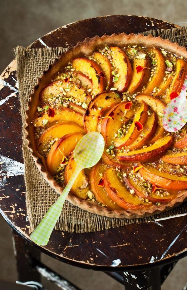 Peach Tart (or pumpkin ... imagine)