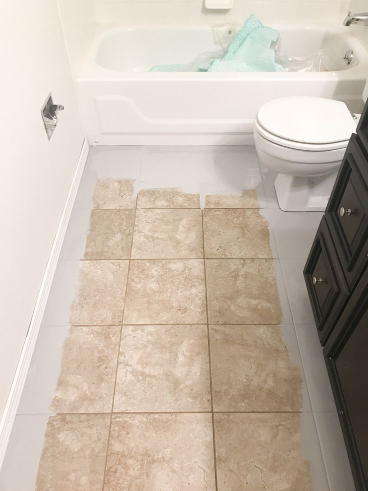 How To Paint Tile Floors Arinsolangeathome Painting Tile Floors Painting Tile Painting Bathroom Tiles