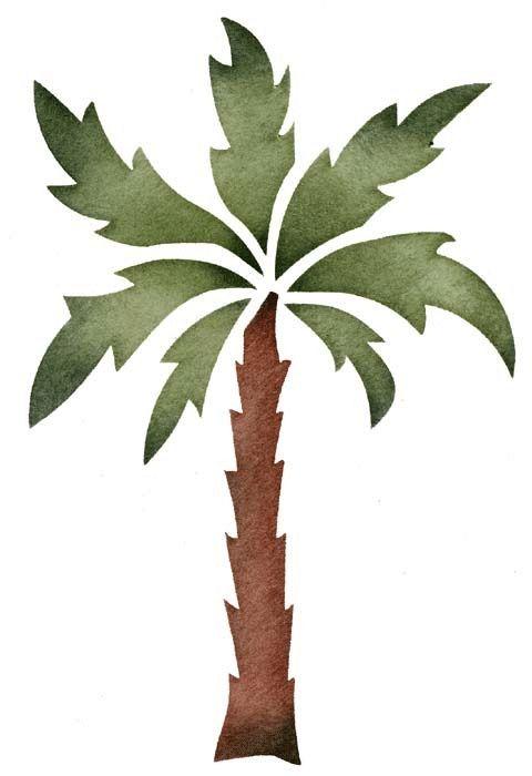 Great palm tree stencil