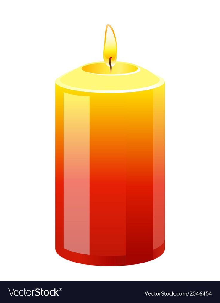 Candle Vector Image On Vectorstock Candles Vector Vector Illustration