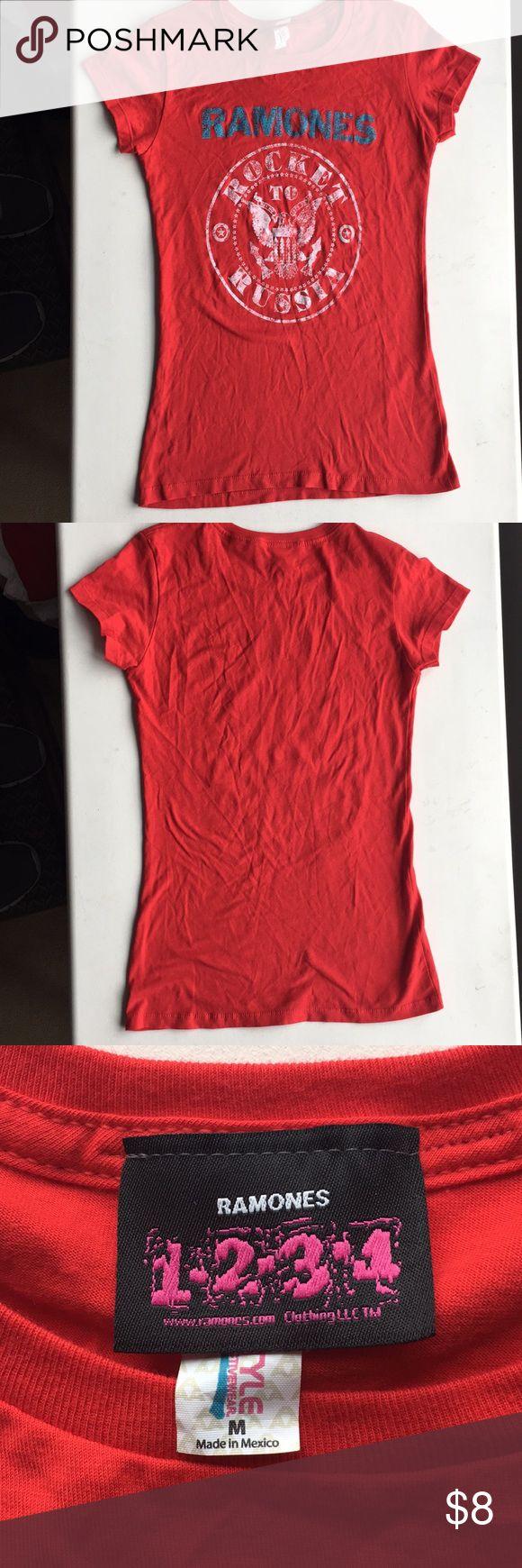 Ramones t-shirt sure medium Ramones t-shirt women's size Medium t-shirt Color: Red Comes from a pet free smoke free home Ramones Tops Tees - Short Sleeve