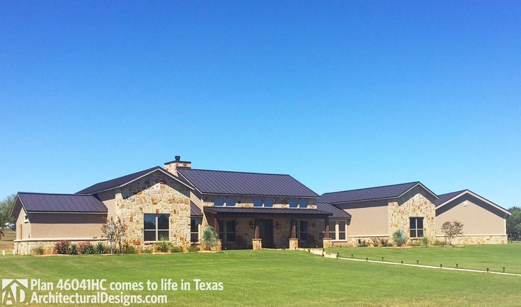 Plan 46041hc hill country home with massive porch car for Hill country home plans