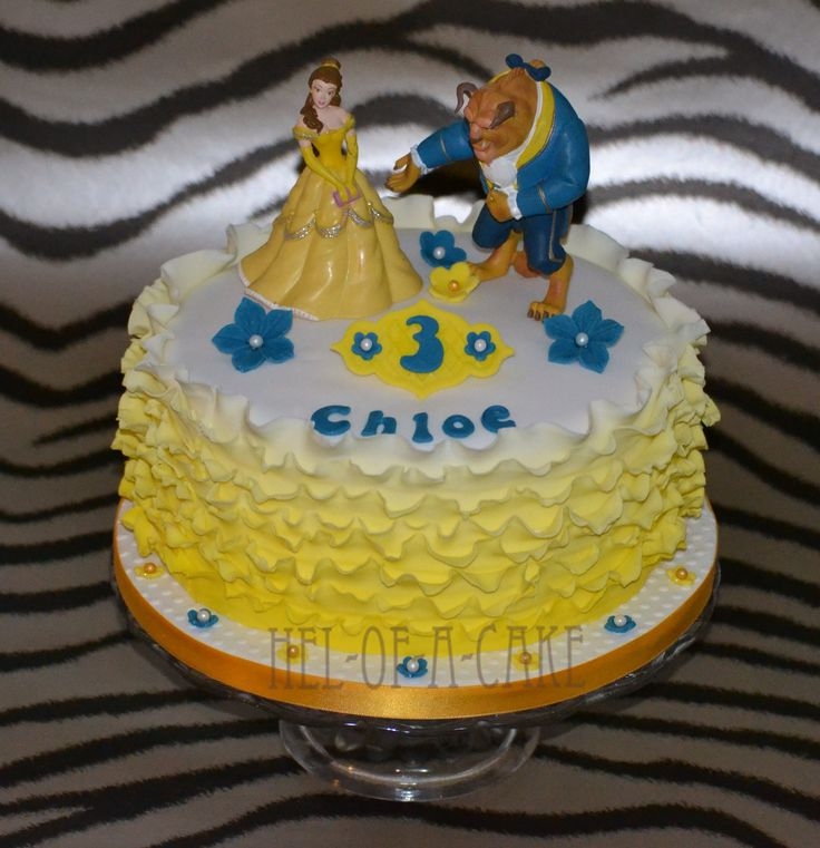 Beauty & the Beast cake by www.facebook.com/hel-of-a-cake