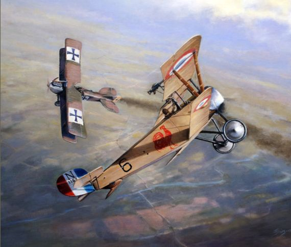 Aviation Art Painting by Terry Jones - Tarascon                                                                                                                                                                                 More