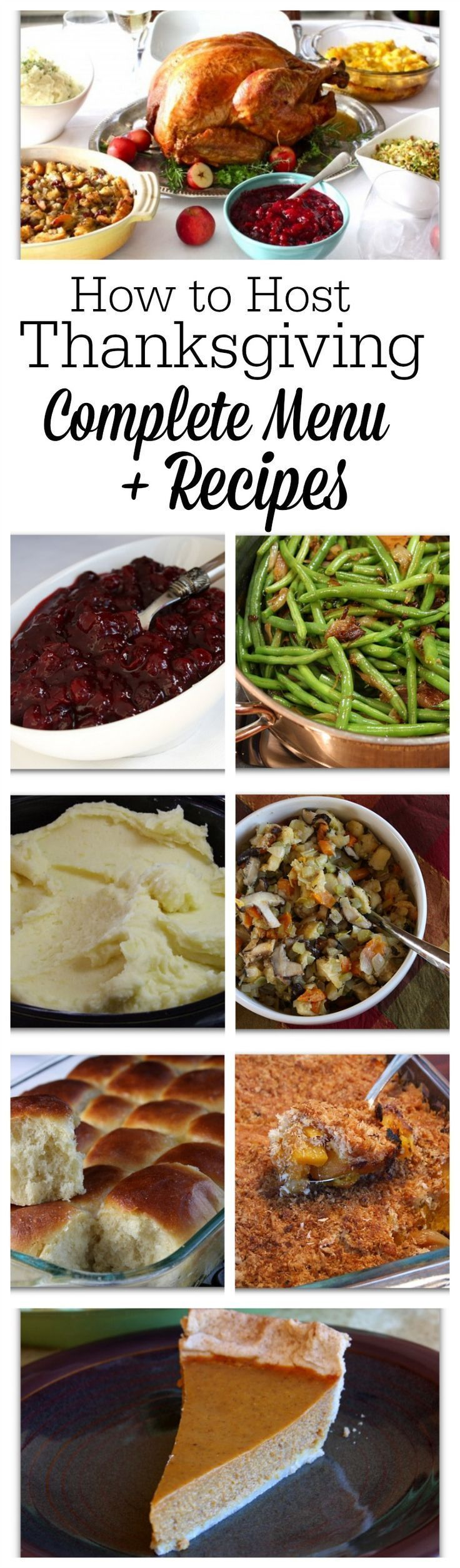 How to Host Thanksgiving Dinner- complete menu and recipes included here!
