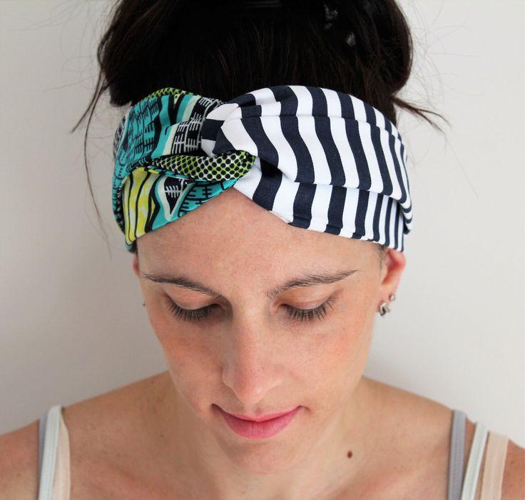 Headband ethnique, accessoire cheveux, accessoire tissu africain, headband femme, headband élastique, coton tissu wax, accessoire coiffure de la boutique Underthecocotiers sur Etsy