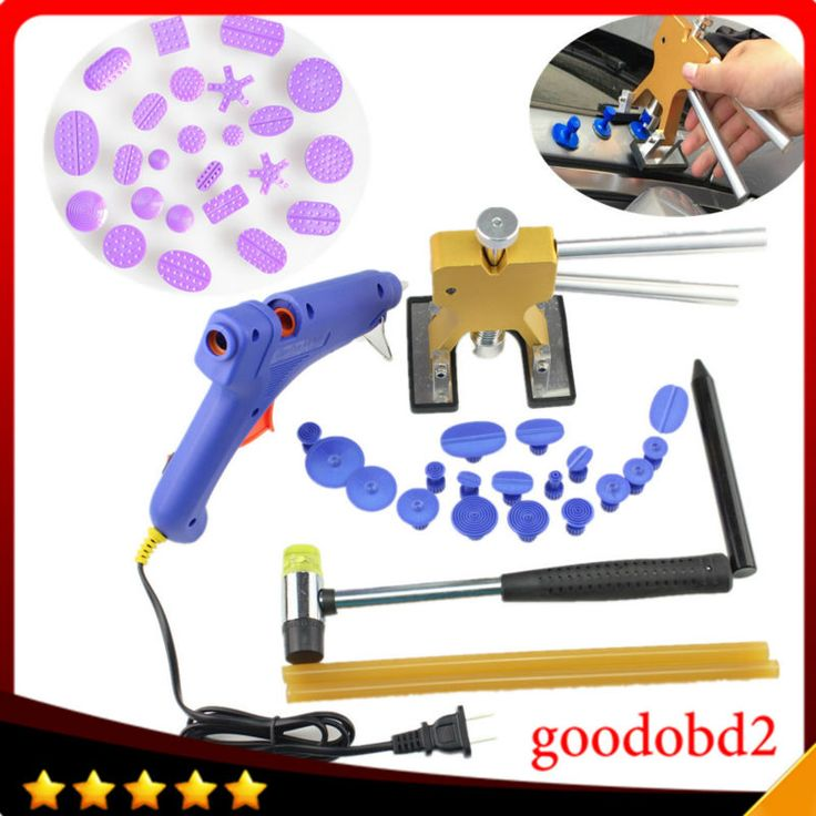 ==> [Free Shipping] Buy Best Car PDR Paintless Dent Repair Tools set Dent Removal with 42X Puller Tabs Gold Lifter Rubber hammerPen Kit Glue Gun with sticks Online with LOWEST Price | 32809810547
