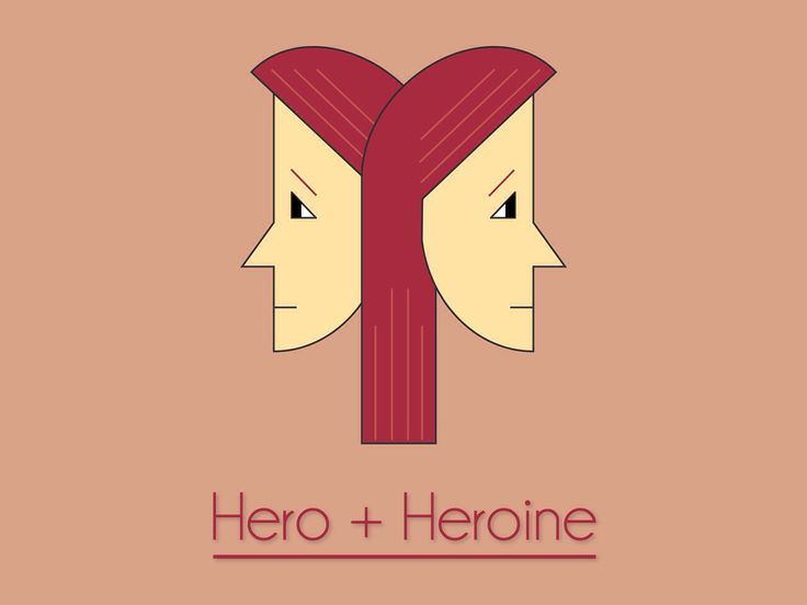 Hero + Heroine. #hero #heroine #everydayhero #symmetry #symmetrical #logo #logodesign #design #graphicdesign