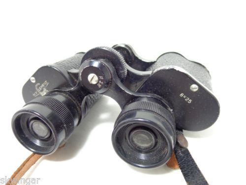 Vintage H V Clement Paris Binoculars 8x25 with Leather Strap - straight out of 1960s France. Hard to find, surely.