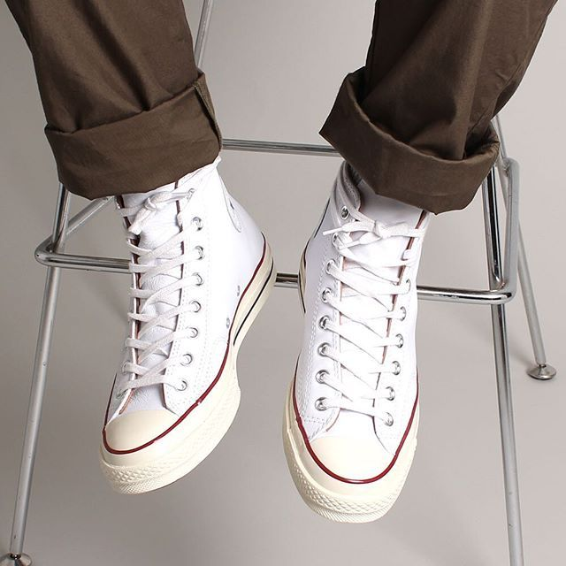 The @converse Chuck Taylor All-Star 70's Hi are an ever lasting classic, now available in white leather. #Converse #Timeless #ChuckTaylor #NewArrivals #SS16 #ContentStore