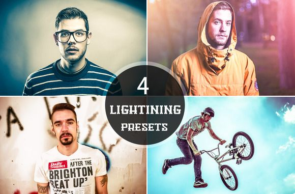 Check out 4 Lightning Presets by ONESMFAPRO on Creative Market