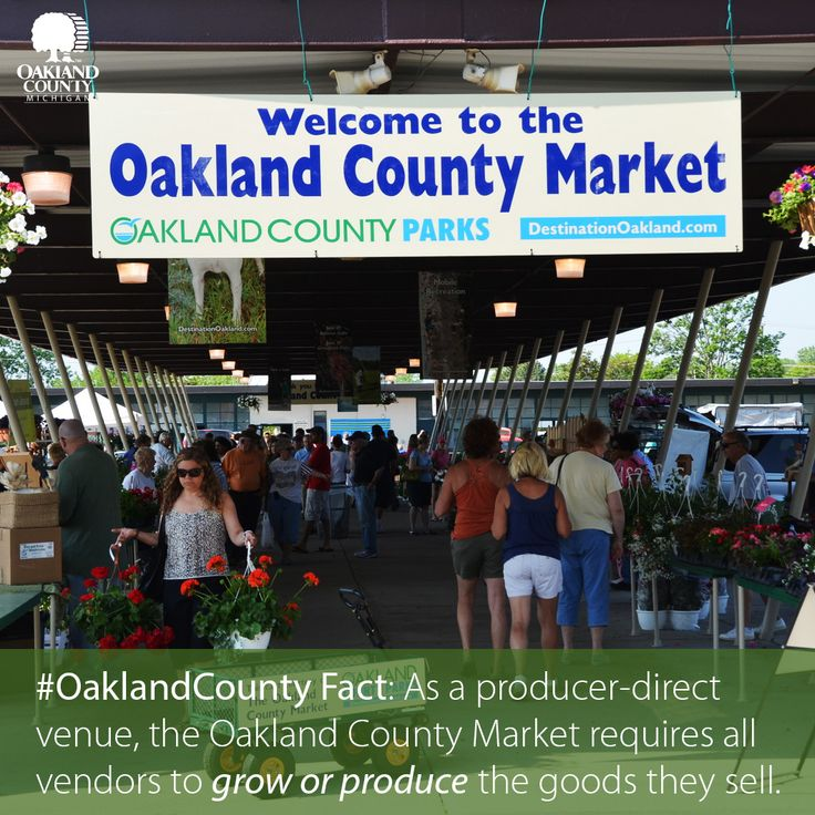 The Oakland County Market offers fresh, locally grown