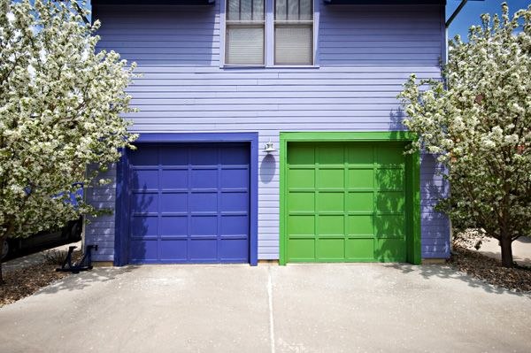 We're going to paint our garage purple to match our front door.