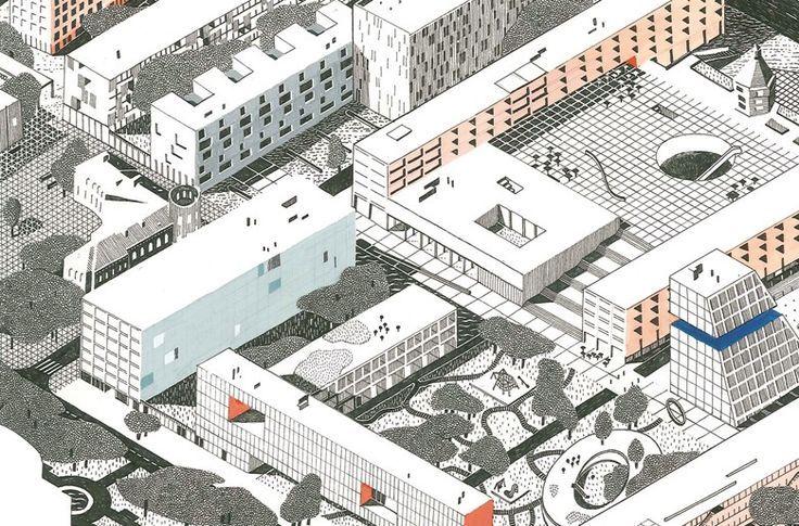 EVA LE ROI - Concours d'urbanisme à Belgorod, Russie, avec les architectes Pierre Burquel, Benoît Burquel et Paul Mouchet.: