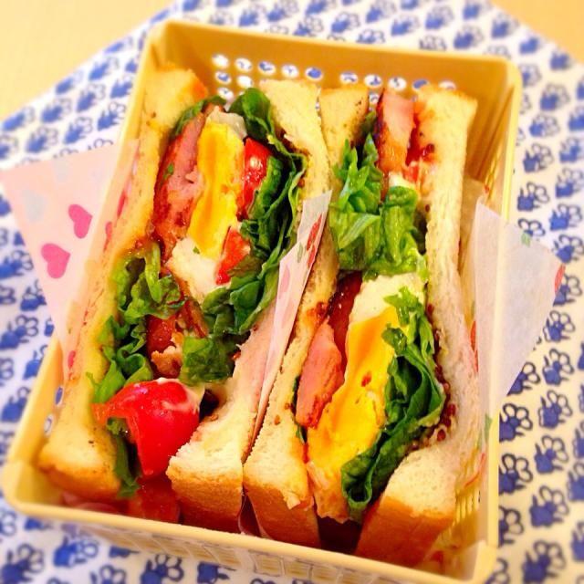 ベーコン レタス トマト そして卵でBLTTサンド(*^^*) - 48件のもぐもぐ - BLTTサンドイッチ by Nagashima  Yuko