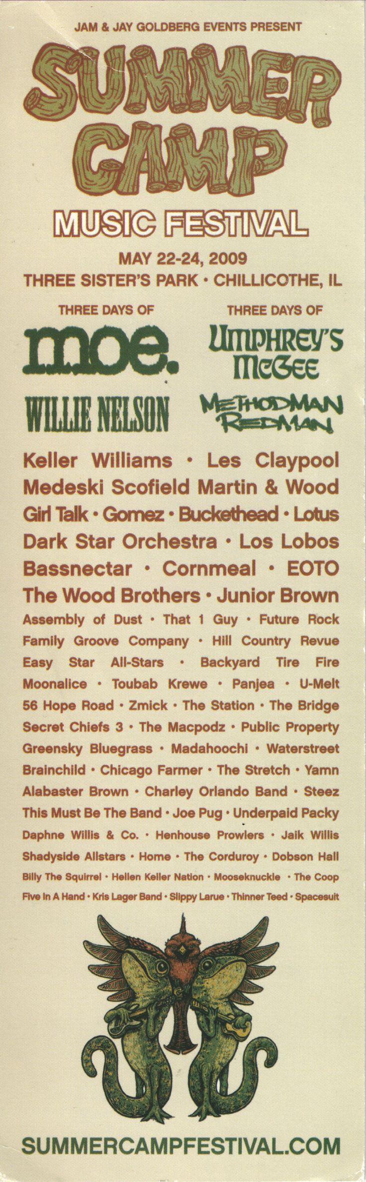 Lineup from Summer Camp 2009! (scheduled via http://www.tailwindapp.com?utm_source=pinterest&utm_medium=twpin&utm_content=post28594964&utm_campaign=scheduler_attribution)