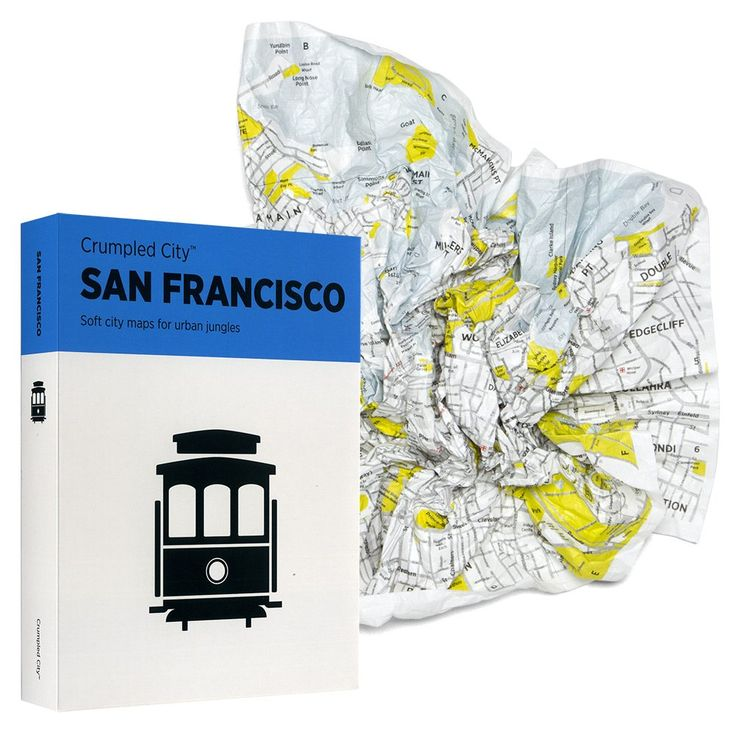 Collapsible Map | If you know someone who is travelling or living abroad, why not gift this map to them? It can fit any pocket, won't suffer under the rain and will always avoid them getting lost in the city!