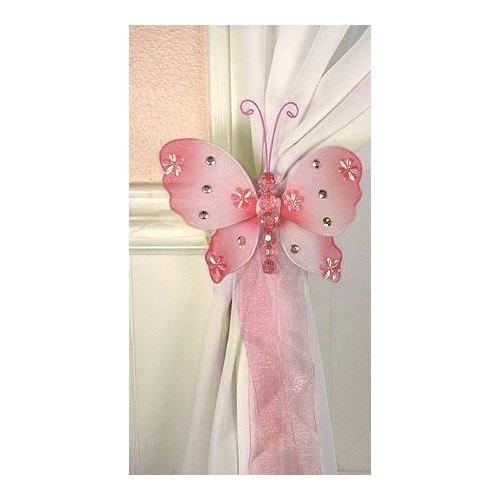 Pink Nylon Butterfly Curtain Tieback