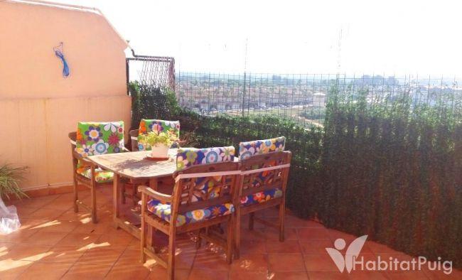 Ático en El Puig, terrazas con encantp