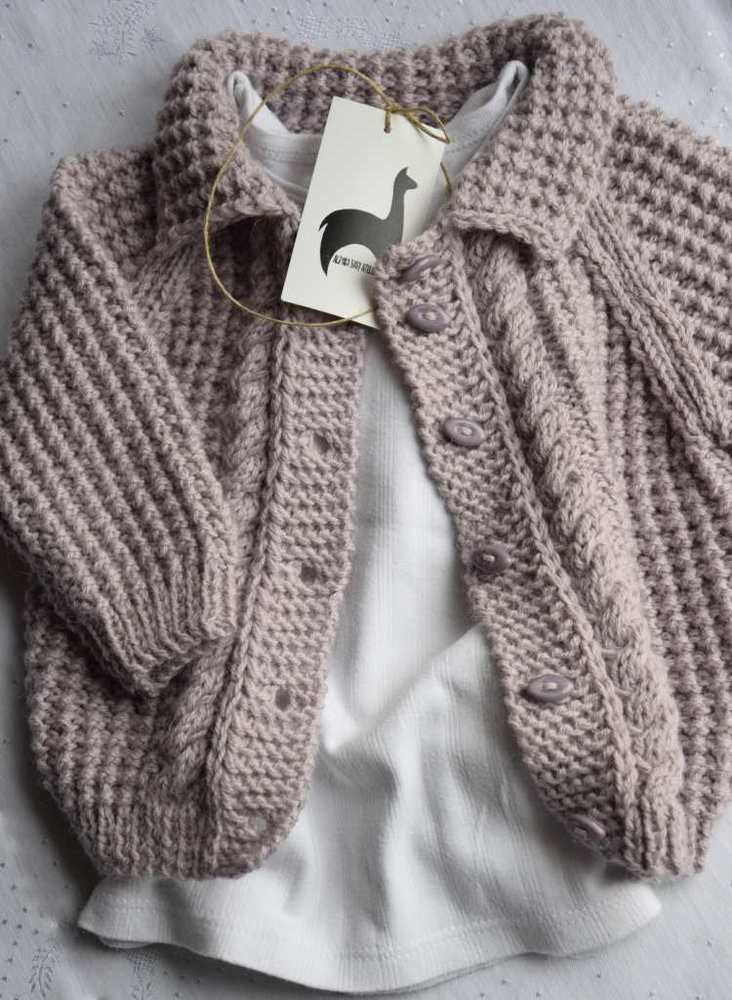Baby strickjacke aus 100% Alpaka 9-12 monaten