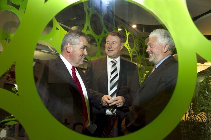 John Herlihy, VP Google Ireland, Eamonn Siggins, CEO and Joe Aherne, President CPA Ireland at Google HQ.