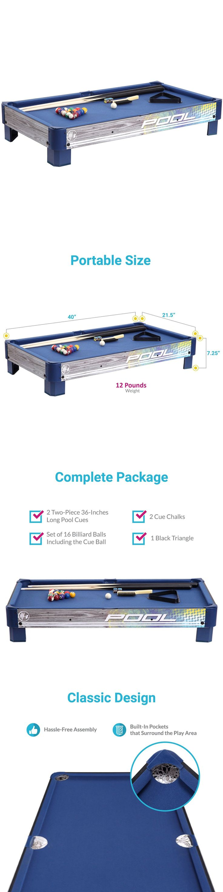 Tables 21213: Portable Tabletop Pool 40-Inch Table With L-Style Legs And Felt Playing Field. A -> BUY IT NOW ONLY: $63.99 on eBay!