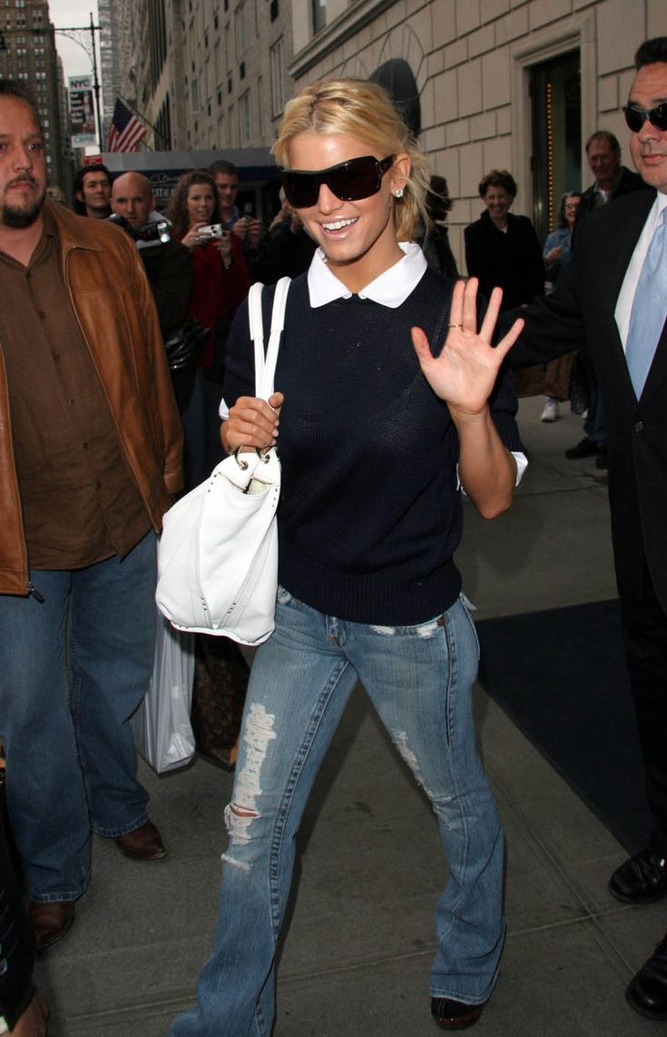 Jessica Simpson. Not a huge fan of her, but I do love her style. I want these jeans!