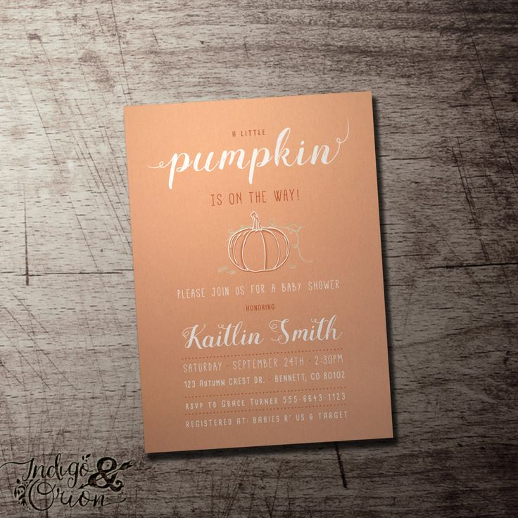 jungle theme baby shower invitation sayings%0A A little pumpkin is on the way baby shower invitation  Fall  Gender neutral  baby